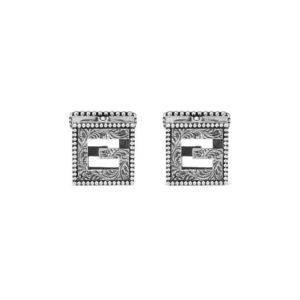 G CUBE CUFFLINKS WITH G AGED SILVER_0