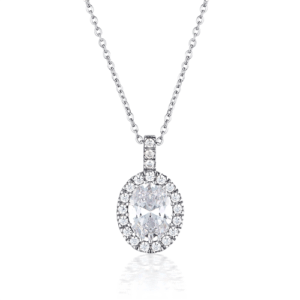 GEORGINI OVAL HALO PENDANT IP739W_0