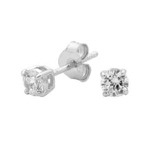 4mm brilliant stud earring_0
