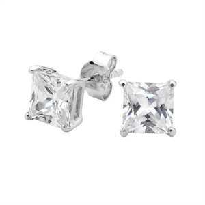 GEORGINI CLEAR SQUARE STUDS IE207W_0