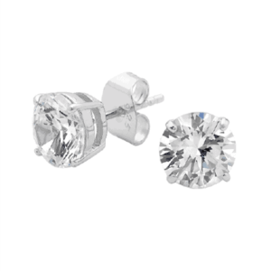 Georgini Silver 925 8mm brilliant stud earring_0