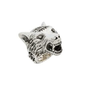 Gucci Angry Forest Wolf Head Ring YBC476900001022_0