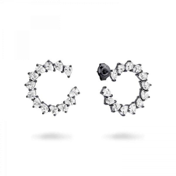 GEORGINI VELA BLACK RHODIUM EARRING E740B_0