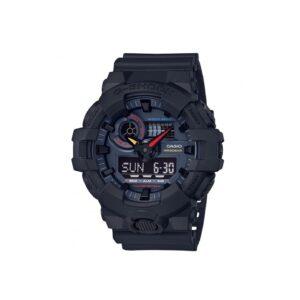 G Shock Ga-700Bmc-1A / Black Case And Strap / Retro Dial / Analog Digital._0