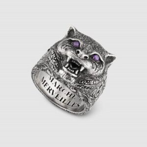 Gucci Garden Feline Head Ring YBC524585001023_0