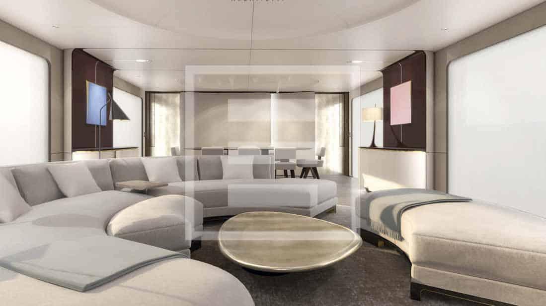 Gli interni di Azimut Grande 115 fanno tabula rasa dello yacht design tradizionale