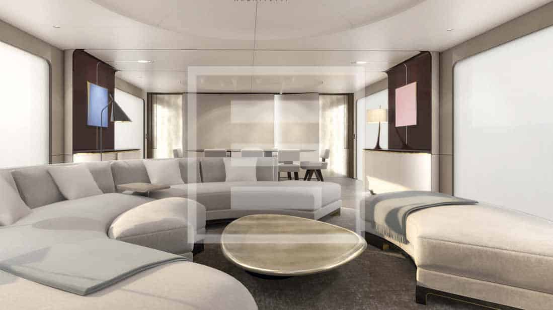 Azimut Grande flagship reveals interiors that are a complete departure from yacht design tradition