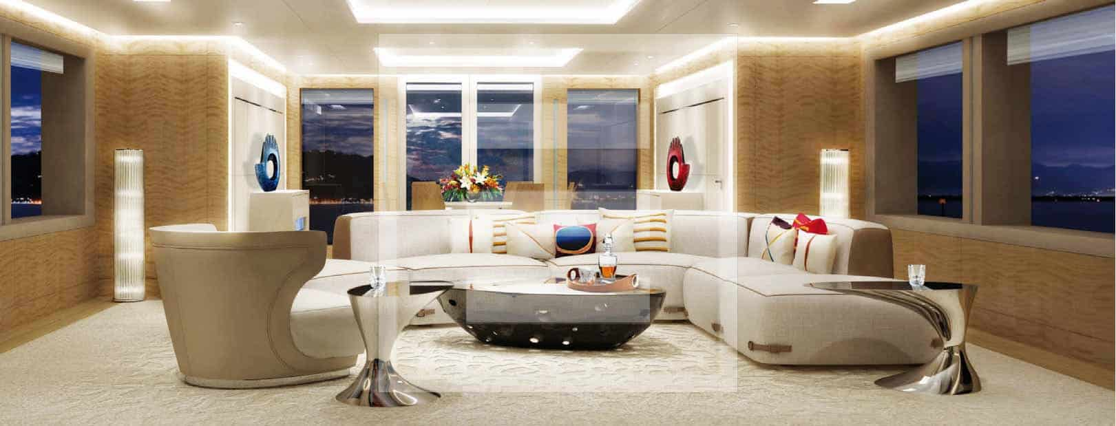 The Amels 188 makes a virtue of space, space and more space