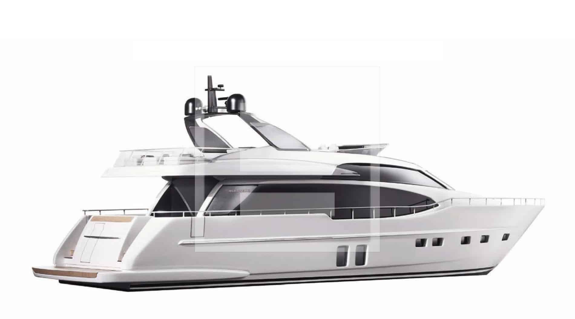 The SL76 yacht which has greatly optimised spaces with a plethora of innovations