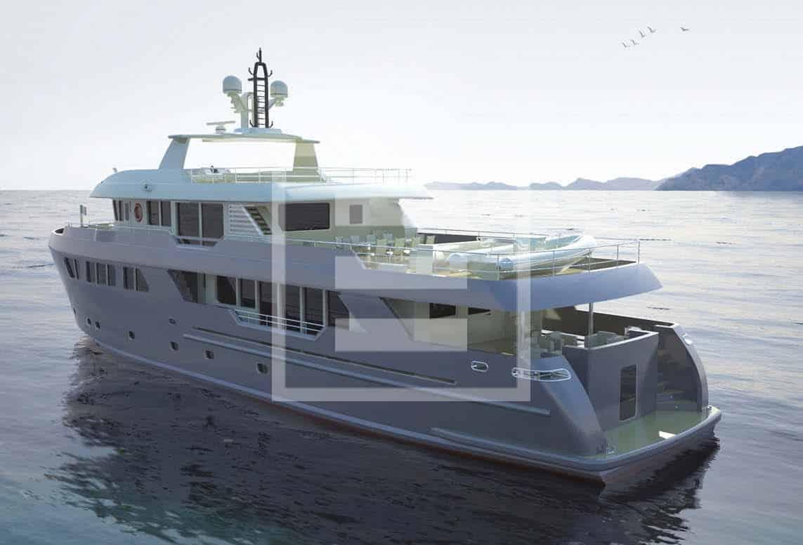 The Darwin 115, a Sergio Cutolo design for Columbus Yachts
