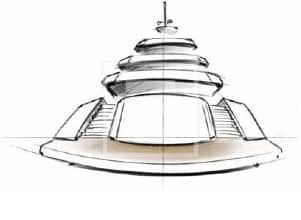 A draw detail of theMulder Design yacht