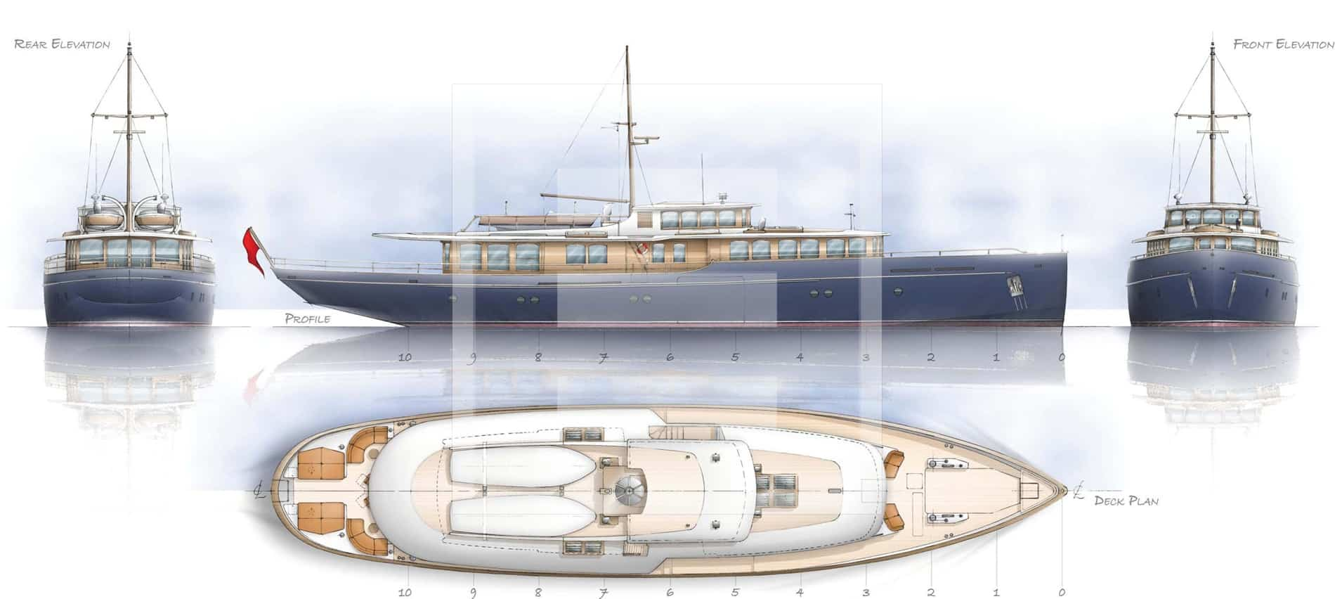 The Spirit Royaleyacht is designed principally for charter use in the Mediterranean