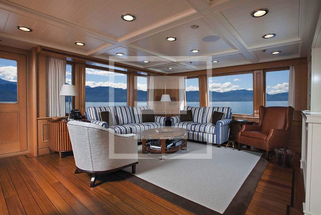 The Onika Delta Marine yacht. English Edwardian styling and colonial feeling