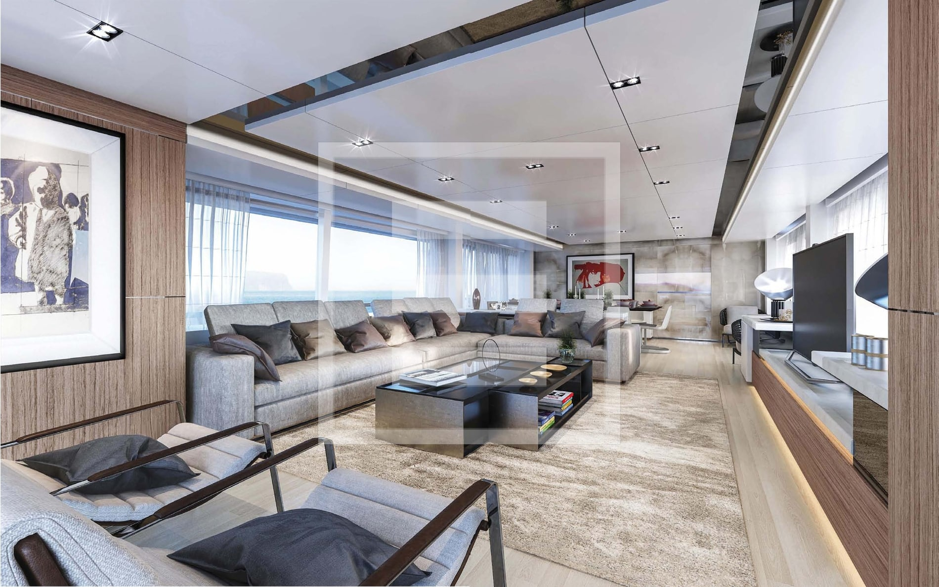 A high-efficiency hull combined with tasteful Zuccon International Project interiors