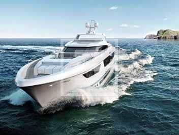 The Nina yacht at sea