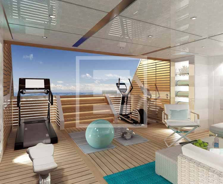 The gym on the sea