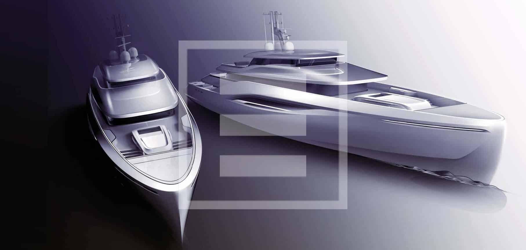 The Ottantacinque, a megayacht concept developed with Fincantieri