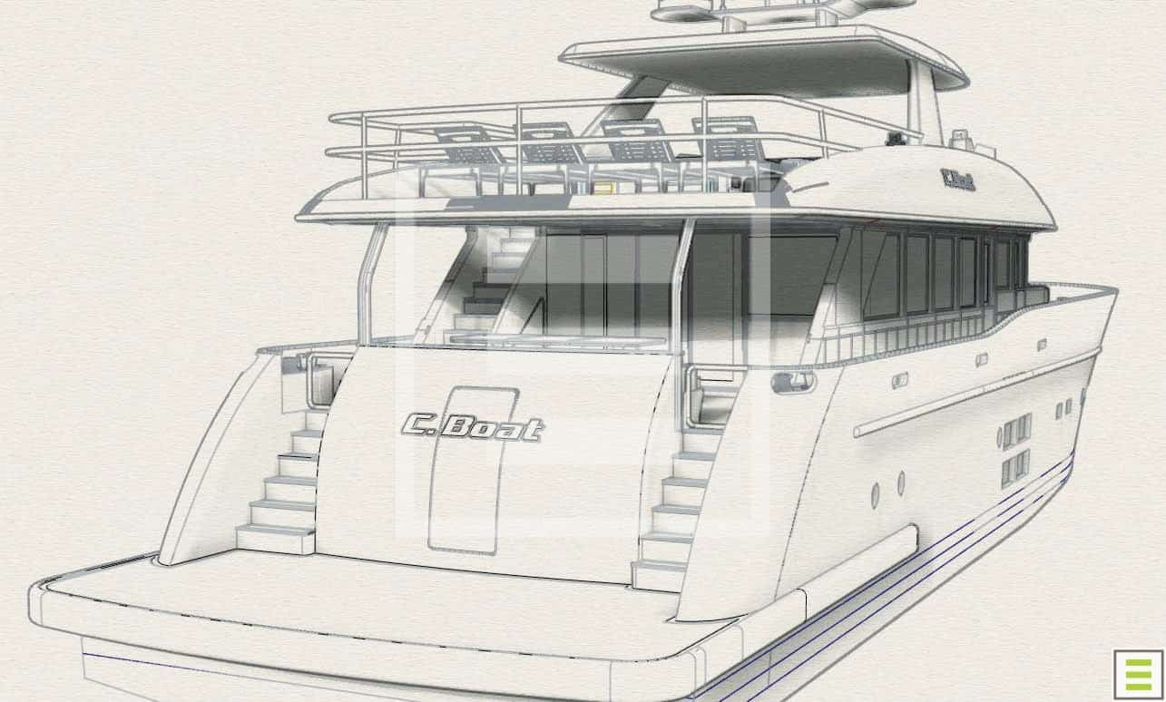 A 27-metre from C.Boat: a sturdy cocktail of functionality, style, tradition and technology