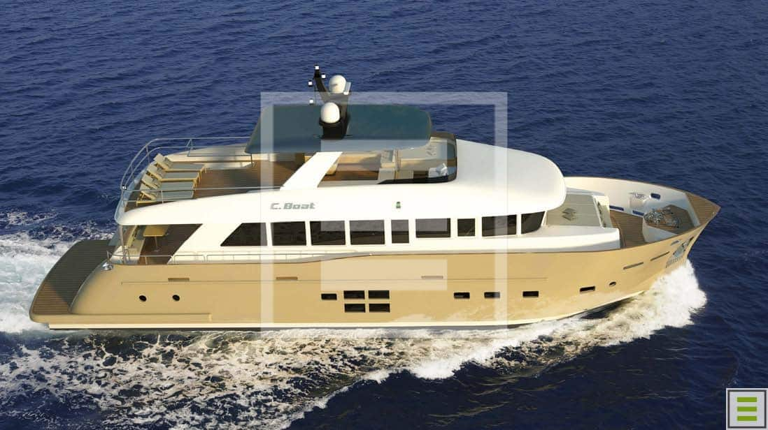 All the yachts to emerge from C.Boat Yacht Builder have the elegance of floating villas and the robustness of working vessels
