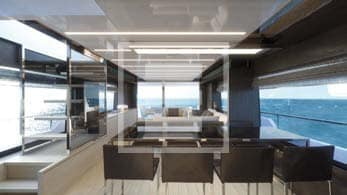 Gli interni dello yacht SL76