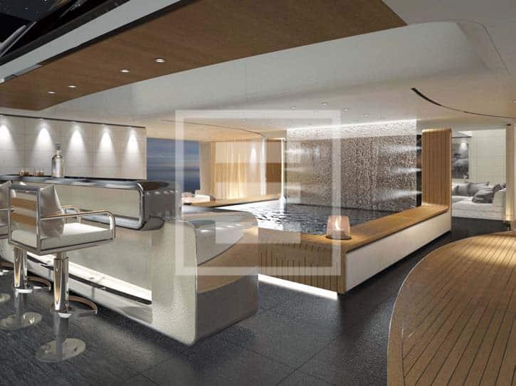 Uno dei due nuovi progetti firmati da Francesco Paszkowski Design per CRN del Gruppo Ferretti