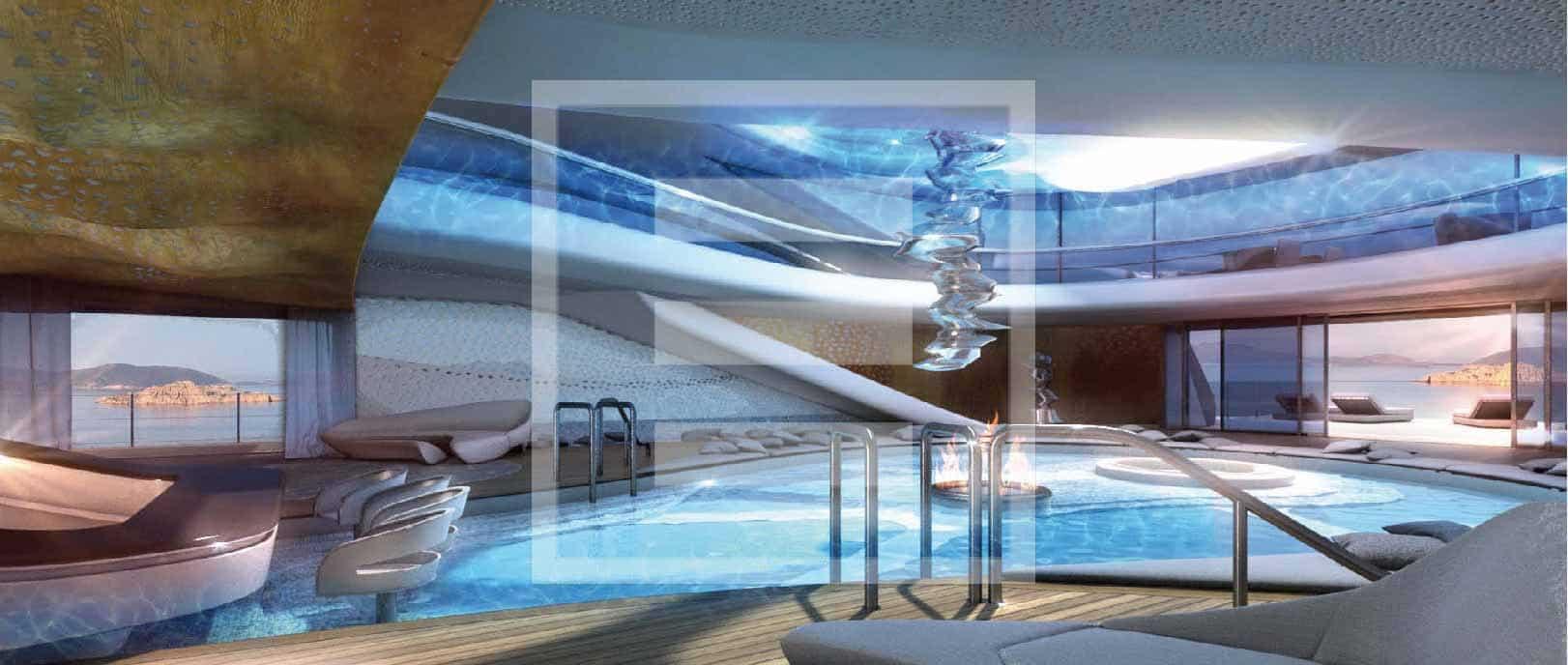 Una vista delle piscine dell'Admiral XForce 145