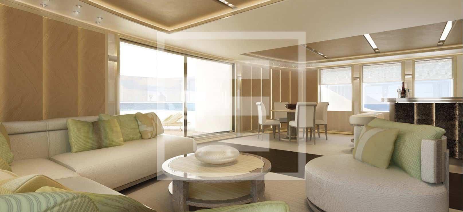 Il rendering della lounge