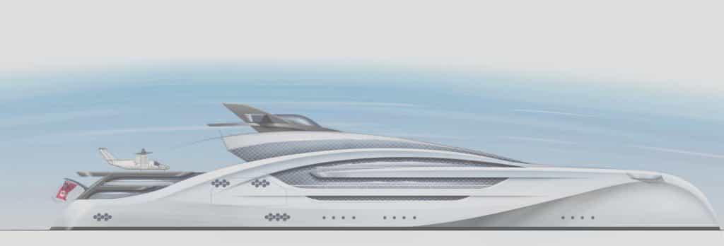 Winch design progetta un trimarano così grande che ci entra un aereo