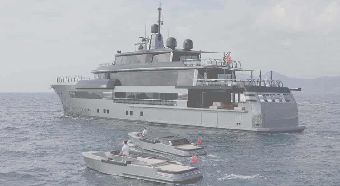 Atlante: il nuovo 55 metri CRN dalle forme militari