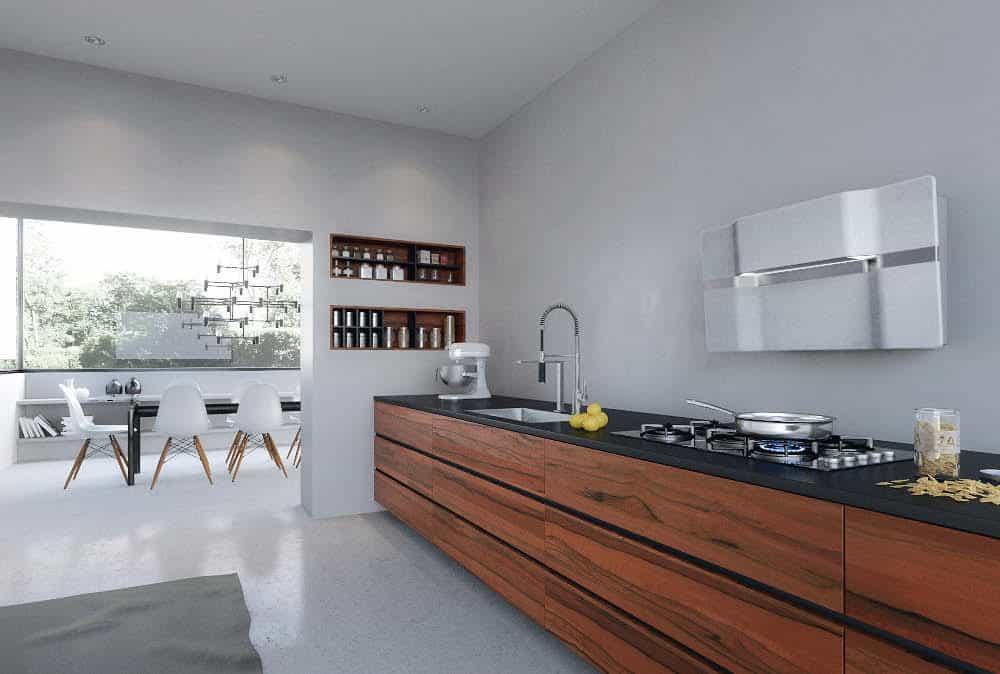 La cappa del futuro: ecco la cucina in cemento di Gutmann
