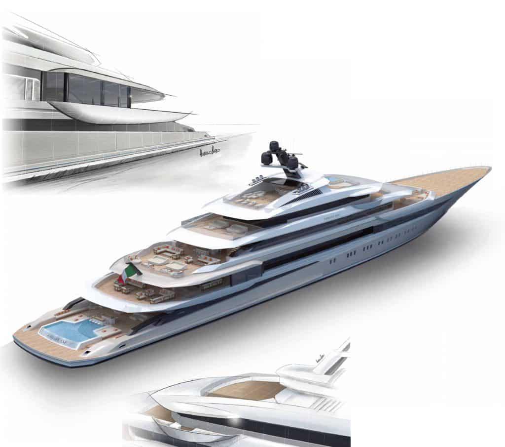 Horacio Bozzo progetto Private Bay yacht