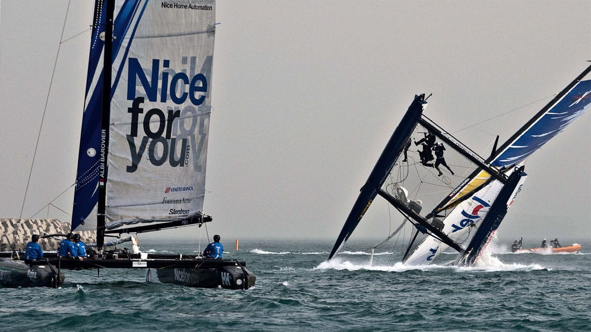 Extreme Sailing Series: il vento in Cina e gli incidenti di regata