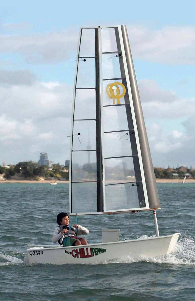 Optimist Nationals Cup, testata una wingsail per i bambini