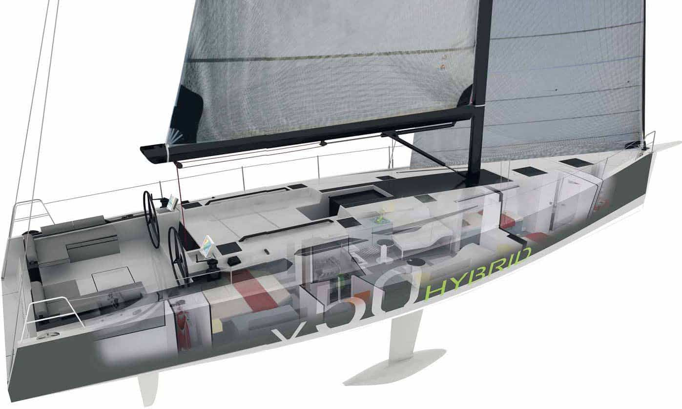 V 50.02 Hybrid, con Vismara Marine barca motore ibrido