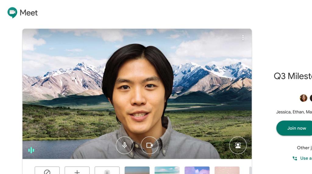 Nouvelle fonctionnalité Paysage sur Google Meet
