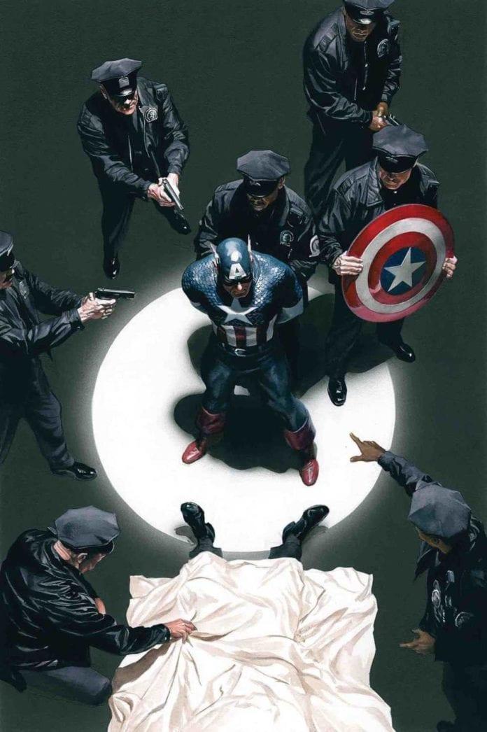 captain america under arrest