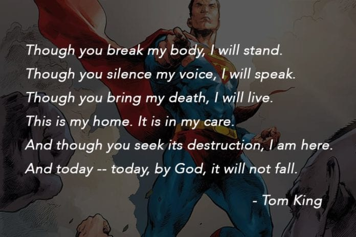 Tom King's Epic Speech From HEROES IN CRISIS #5