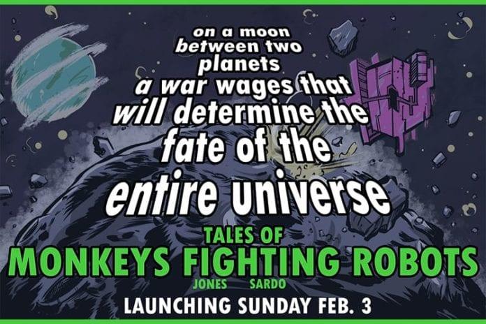 Monkeys Fighting Robots Launches Digital Comic Strip Super Bowl Sunday