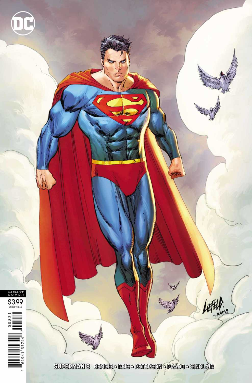 variant cover for Superman #8