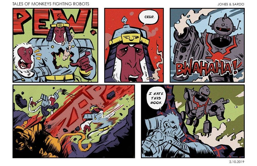 TALES OF MONKEYS FIGHTING ROBOTS #2