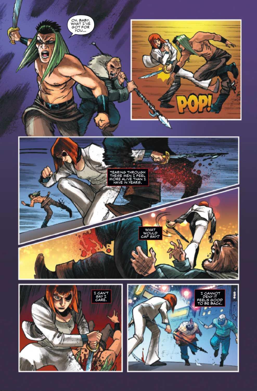 Natasha fighting crime lords