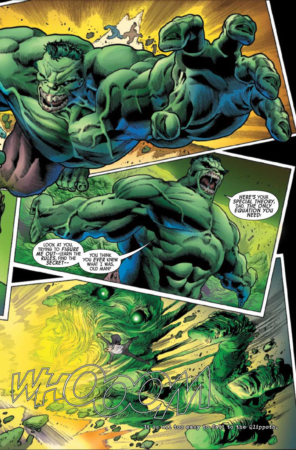Hulk fights Gamma monster and Banners father