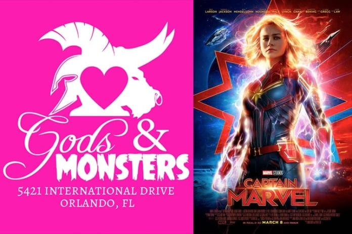 Gods & Monsters Comics To Host Exclusive CAPTAIN MARVEL Event