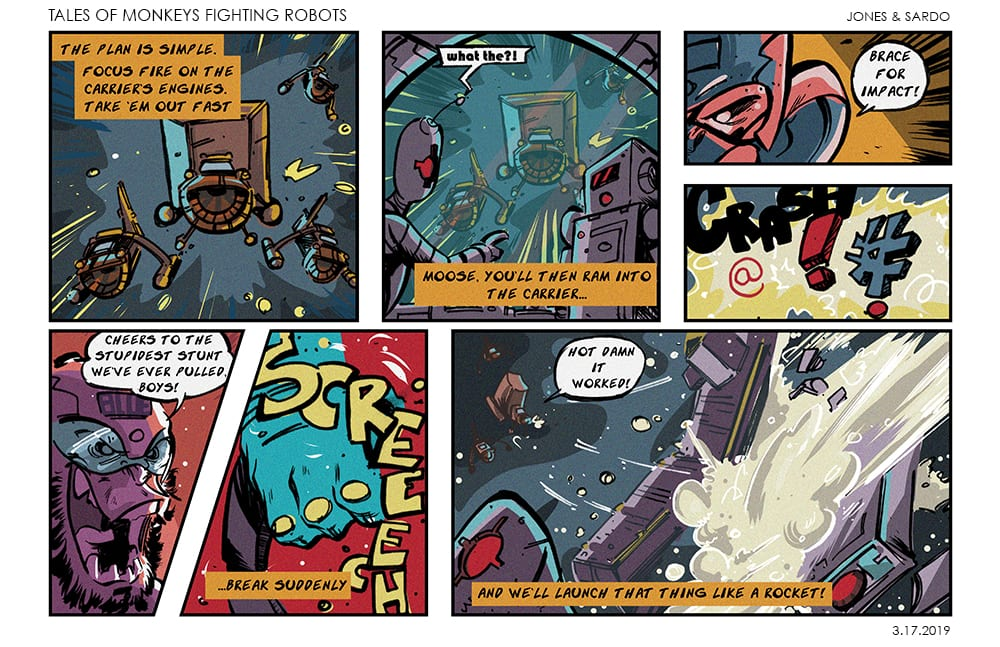Tales of MFR #7 comic strip
