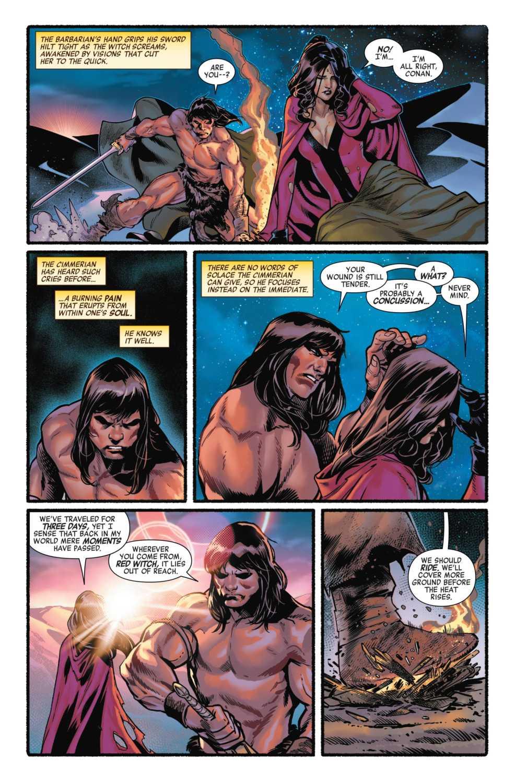Wanda and Conan conversing