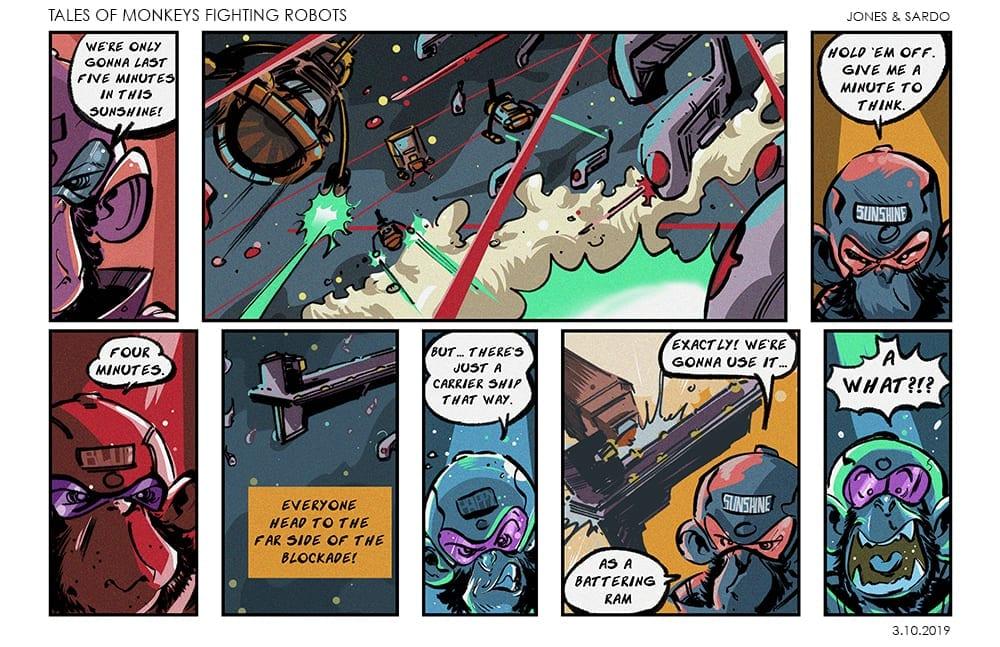 Tales of Monkeys Fighting robots Web comic