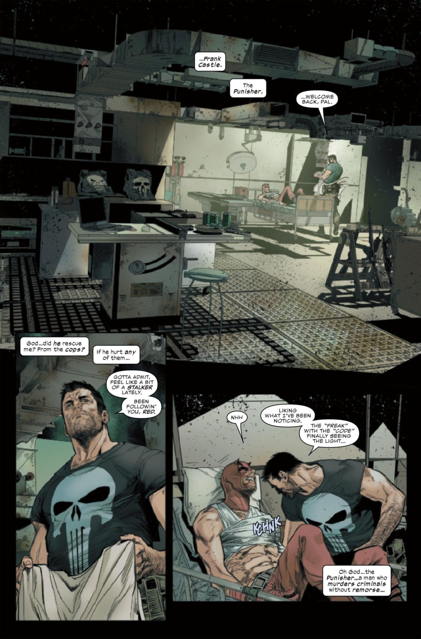 Frank Castle confronts Matt Murdock