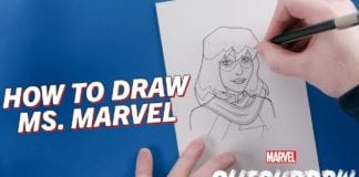 Learn How to Draw Ms. Marvel! | Marvel Quickdraw