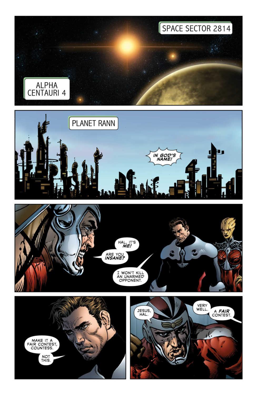 Hal and Adam Strange standoff