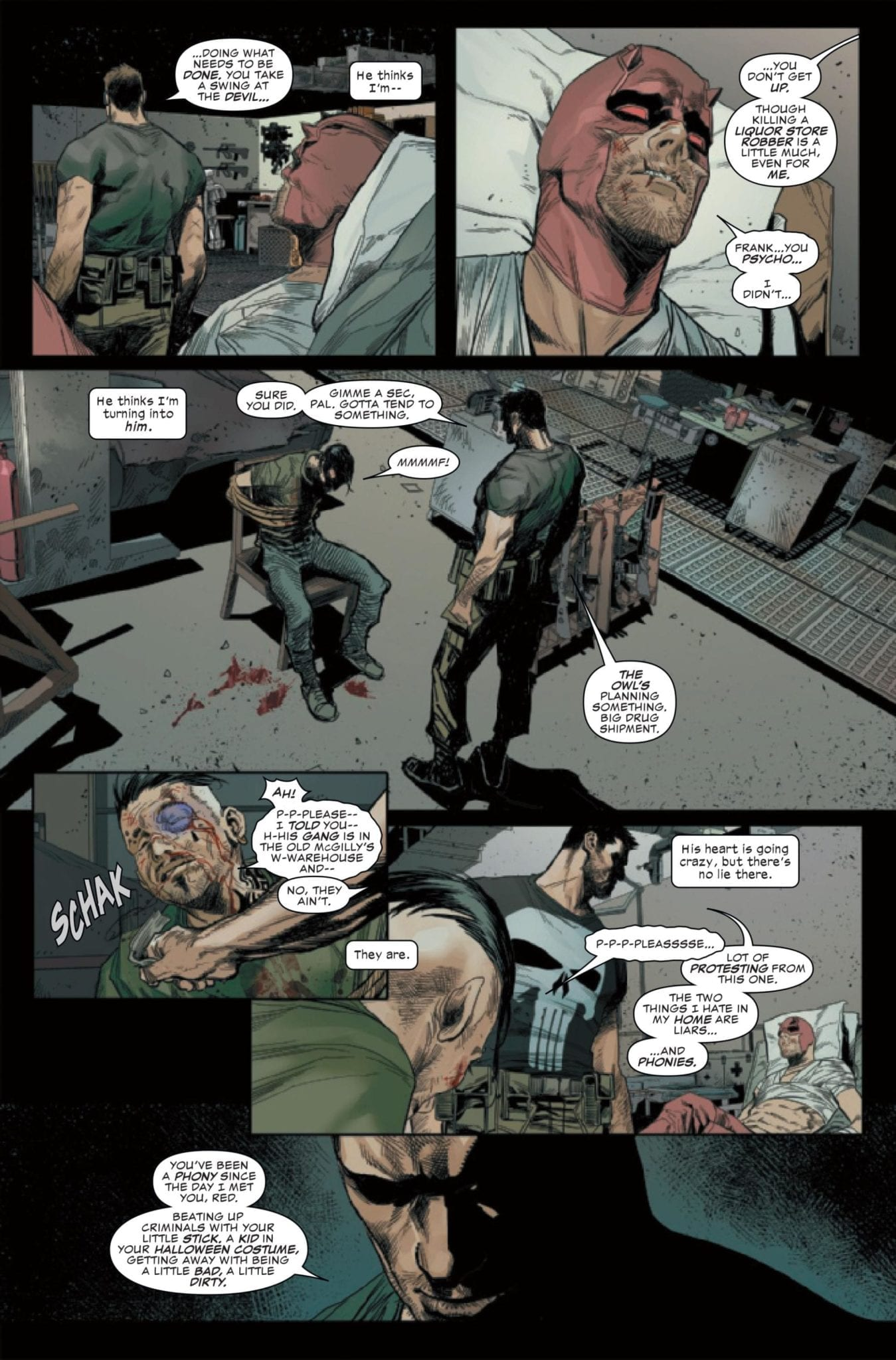 Frank Castle confronts Matt Murdock 2